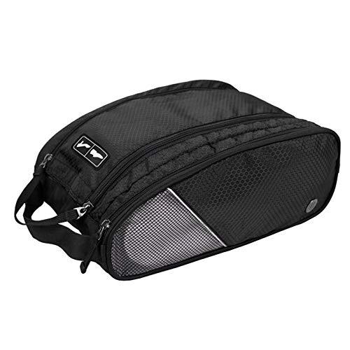 XINGBAO Travel Shoe Bags, Portable Lightweight Shoes Storage Bag, Waterproof Shoe Packing Storage Organizer With Zipper Closure,Black-32 * 22 * 13.5