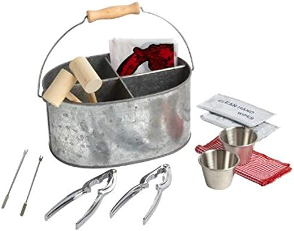 Seafood Crab Lobster Shrimp Clambake Caddy Set 13 Piece Everything You Need Party Set