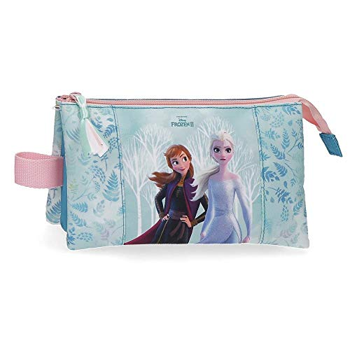 Frozen Estuche Find Your Strenght Tres Compartimentos, 22x12x5 cm, Azul