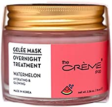The Crème Shop Korean Skincare | Overnight Gel Mask for Moisturizing and Hydrating, Anti-Aging, Brightening, Relief facial skin care - 2.36 oz (Watermelon)