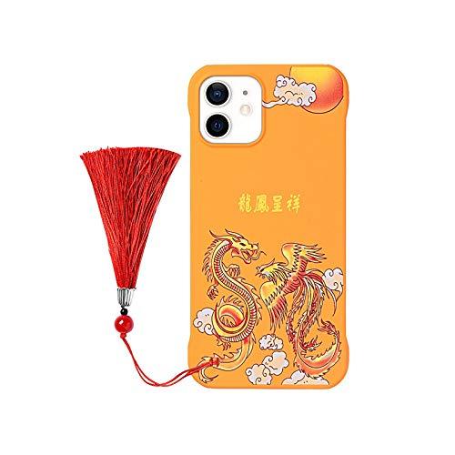 Funda de teléfono con patrón de dragón para iPhone 12 11 Pro Max XR 7 8 Plus 12 Mini X XS 11Pro MAX SE2020 caso de moda PC cubierta sin montura Coque-03-para iPhone 11 Pro