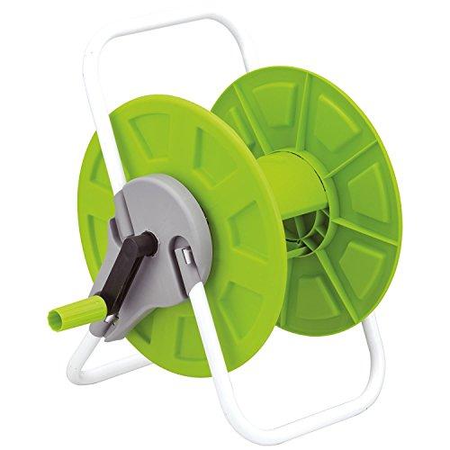 Carrello avvolgitubo portatile Parkland 60m per tubo irrigazione giardino autoportante per patio, terrazza, cortile, giardino, casa, vialetto