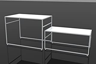 FixtureDisplays Nesting Display Tables, Rectangular, Set of 2 (S/L) - White 119995