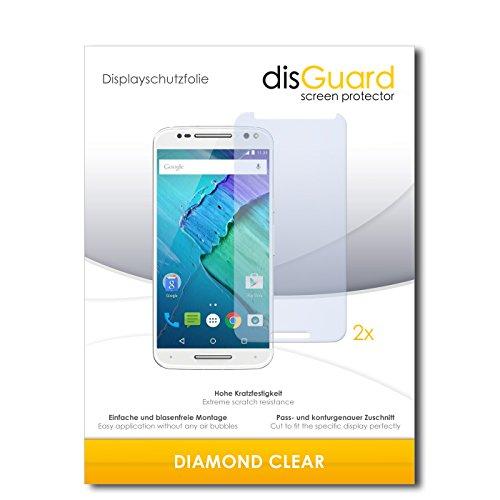 disGuard 2 x Bildschirmschutzfolie Motorola Moto X Style Schutzfolie Folie DiamondClear unsichtbar