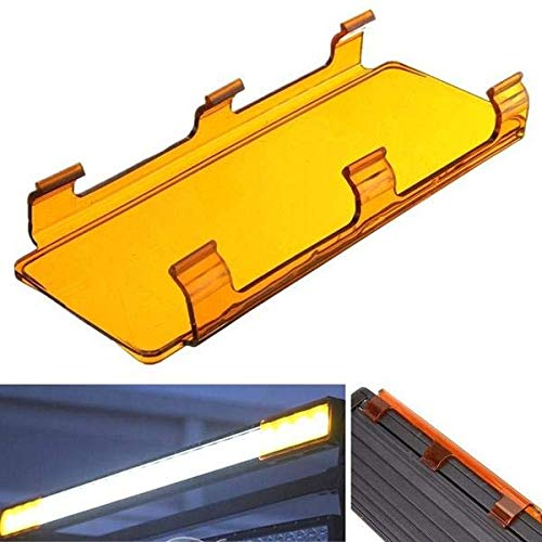 XinXinFeiEr XUAN1202 20 x 8 cm bernsteinfarbene gebogene LED-Abdeckung für ATV, UTV, Off-Road, Lightsome Bar
