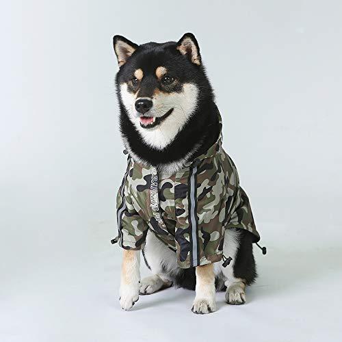 Chaqueta de plumón de poliéster con tiburón y camuflaje para perro, para invierno, para mascotas, resistente al viento, para perros, abrigos de perro, para disfraz de fiesta de cumpleaños (verde, 4XL)