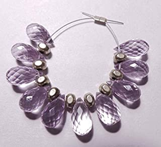 Jewel Beads Natural Beautiful jewellery 10 Pcs Strand - Natural Pink Amethyst 10x6-11x6 MM Feceted Tear Drop ShapeCode:- JBB-42978