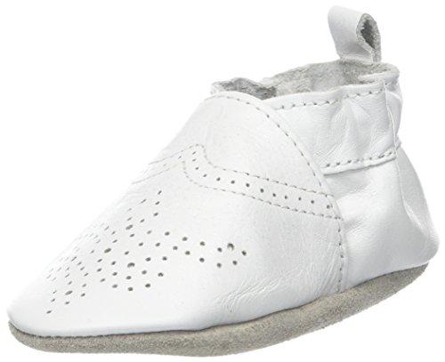 Robeez Unisex Baby Chic & Smart Krabbelschuhe, Weiß (Blanc), 19/20 EU (6-12 M)