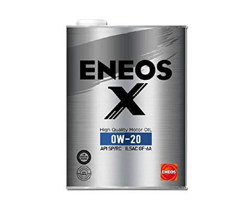 ENEOS X (エネオス エックス) ハイクオリティ モーターオイル エンジンオイル 0W-20 SP/RC GF-6A 部分合成油 4L缶
