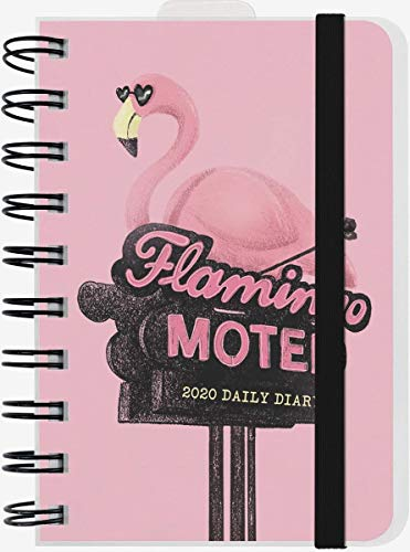 2020 12 Months Daily Planner 10 x 14 cm Small with Elastic Flame Motel + Free Pen + Free Bookmark