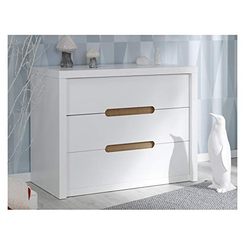 Alfred & Cie - Commode 3 tiroirs Blanc