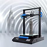 Anet ET5X 3D Printer, FDM DIY 3D Printer with Dual Z-axis Design, 25 Point Auto Leveling, Online & Offline Print, 3.5 Inch LCD Color Touch Screen, 300x300x400mm