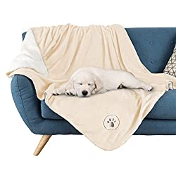 PETMAKER Waterproof Pet Blankets - Soft Plush Throw Protects Couch