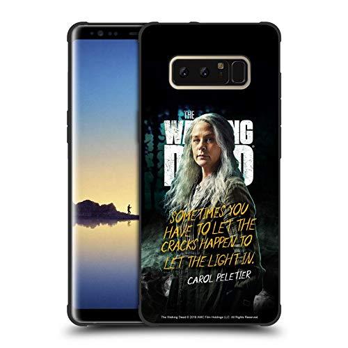 Offizielle AMC The Walking Dead Carol Staffel 9 Zitate Schocksichere Matt Schwarze Handyhülle Hülle Huelle kompatibel mit Samsung Galaxy Note8 / Note 8