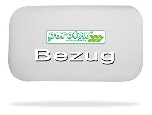PUROTEX Bezug für das Visko Kissen Caraflex. Hochwertiger, ausgezeichneter Kissenbezug. Allergiker geeignet, milbenhemmend, abnehmbar und waschbar.