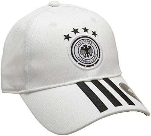adidas Herren DFB 3-Streifen Kappe, White/Black, OSFM