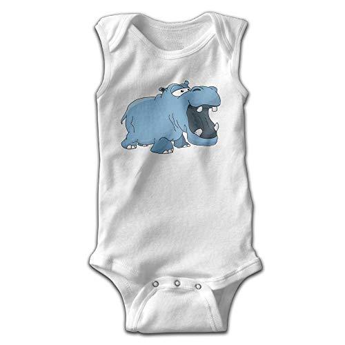 HFJFJSZ Hippo Cartoon Newborn Infant Baby Summer Sleeveless Bodysuit Romper