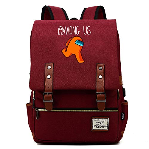 Among Us Anime Students Backpack 3D Printing Backpacks Durable Water Resistant School Bookbag Computer Bag Children Kindergarten Backpack