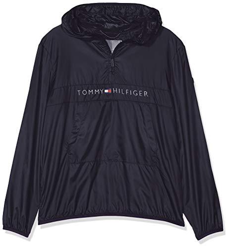 Tommy Hilfiger Jungen Unisex POP-Over Jacket Jacke, Blau (Black Iris 002), 140 (Herstellergröße: 10)