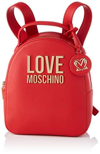 Love Moschino Precollezione SS21 | Zaino PU da Donna, Borse a Zainetto, Rosso, medium