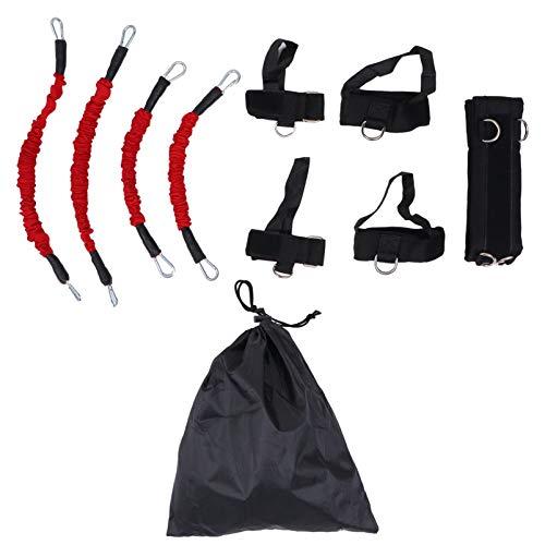 SOIMISS Träning Motståndsband Set Drag Rep Träning Yoga Spänning Rep Strap Fitness Home Gym Utrustning För Krop Stretch Träningsöversättning Svart 15LBS
