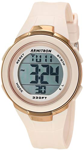Armitron Sport Women's Digital Blush Pink Resin Strap Watch, 45/7126PBH