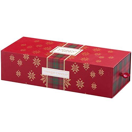 YANKEE CANDLE Set Regalo con 3 Candele profumate in giara Piccola, Collezione Natale in Montagna, Confezione Regalo Natalizia
