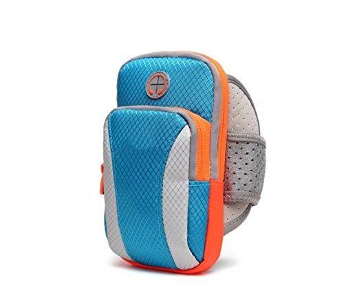 Premium Running Sport Gym Nylon Reißverschluss Armband für Motorola Moto G4/G5Plus/Moto Z Play/Moto E 4G/wileyfox Spark X/LG G6/G5/LG V20/LG Electronics Nexus 5x (blau)