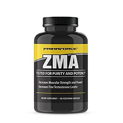 PrimaForce ZMA Supplement, Zinc for Immune Support, Muscle Recovery and Endurance Supplement for Men and Women, Zinc and Magnesium Supplement, 180 Count