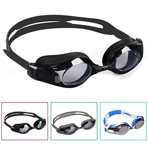 BEZZEE PRO 3 Pack Anti-UV Gafas Natación Ajustable