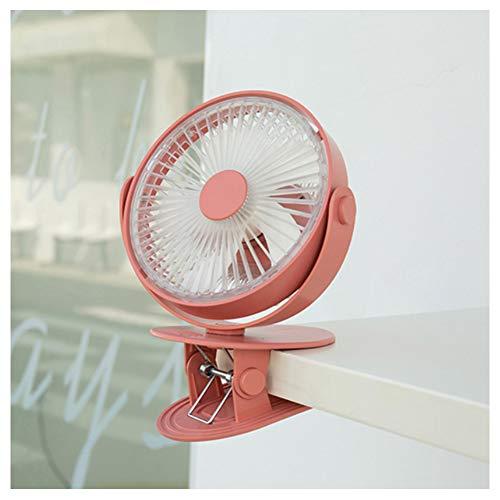 LUOTIANLANG Tischventilator Tischclips Können Frei Platziert Werden Standventilator 360 Grad Winkel Einstellbar Leichter Geräuschbetrieb Geräuschreduzierung Und Energieeinsparung,Rosa