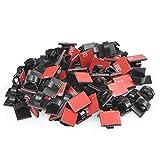 Atpwonz 100個入り ケーブル固定具 粘着シート付 ケーブル固定クリップ 配線固定 取り付き簡単 PC周りや車内の配線コードを固定