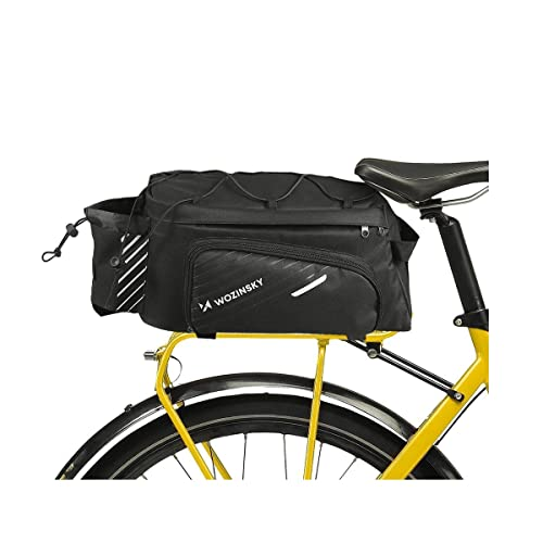 WOZINSKY Gepäckträgertasche Fahrradtasche für Gepäckträger Wasserdicht Reisetasche Tasche für Fahrrad, Mountainbike, ebike, MTB, Rennrad Bike Bag Fahrradträger Tasche 9 L