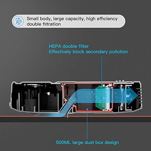 Aspirateur Robot, Mini Aspirateur Robotique Capteur de collision 6D, WiFi/App/Alexa, Auto-recharge 1500Pa Aspiration 500ml Capacité idéal pour Poils d'Animaux Coin de l'armoire, Lefant-M201