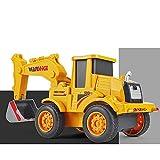 Xolye Deformación de Impacto Ingeniería Vehículo Juguetes para niños EXCAVADOR DE AVANZA IRENCIAL Toys Material de Metal Resistencia de caída Boys Toy Toy Cars (Color : Yellow)