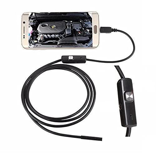 CLIPSEAM USB Endoscopio 5.5mm 2 en 1 Impermeable Boroscopio Cámara De Inspección con 6 Led 1 M Serpiente Cable y Adaptador USB para Android o PC Windows