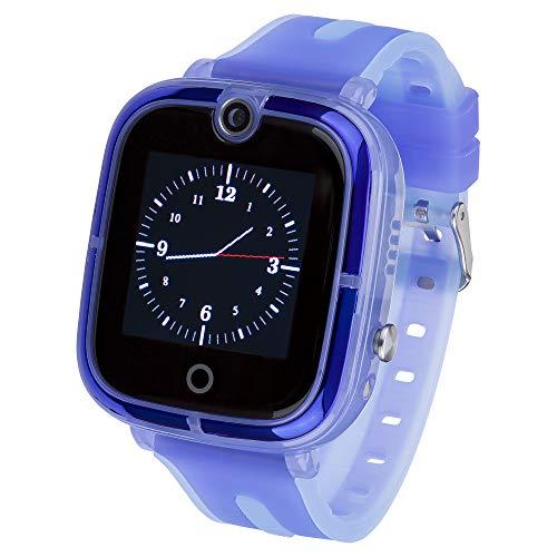 JBC Kinder | Mit Neuer Akku Leistung | GPS Uhr | Smart Watch | SOS Telefon | (Blau)