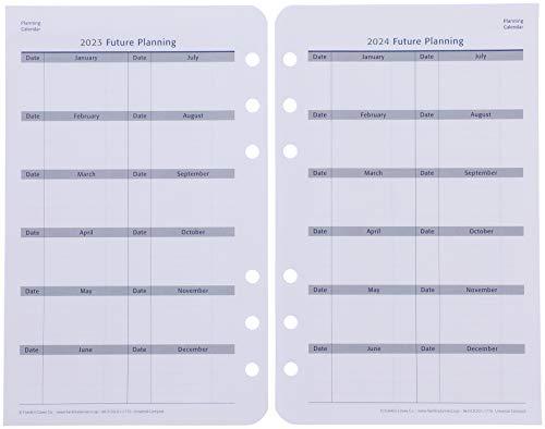 フランクリンプランナーユニバーサル1日2ページデイリーリフィル2021年1月4月始まり兼用15ヶ月版コンパクトサイズ65205