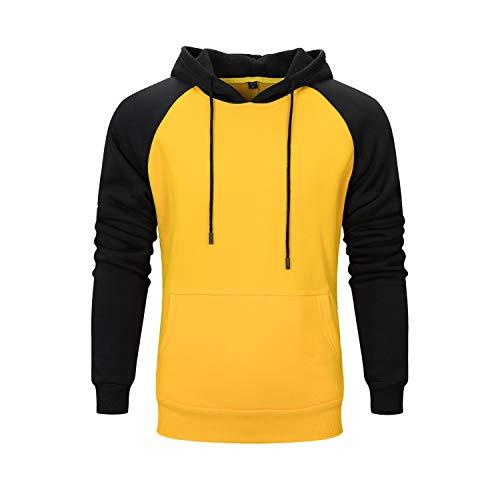 Herren Damen Hoodies Hip Hop Casual Sport Sweatshirts Mit Kapuze Warme Samtfutter Herbst Winter Langarm Kapuzenpullover Pullis Gelb S
