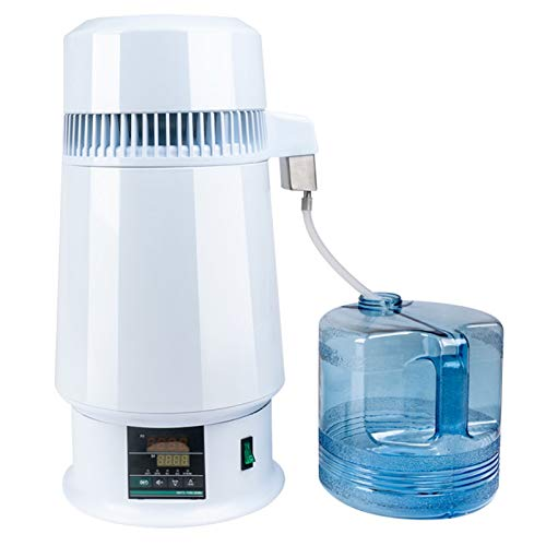 4 L Wasser-Destillierapparat Maschine 750W Edelstahl Inner Destilliertes Wasser, Die Maschine, Mit Digitalanzeige Einstellbare Temperatur Mit Sammelflasche Für Küche Haus,110v