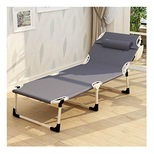 Haozai 0304 Campingstoel, inklapbaar, voor kantoor, woonkamer, balkon, tuinligstoel, kantelbaar, 193 × 68 × 31,5 cm