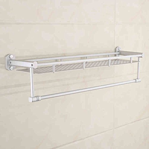 Space Aluminium Double Layer Bathroom Racks Serviette de bain/salle de bains