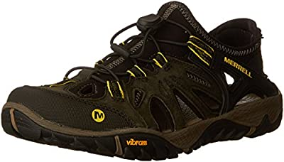 Merrell Men's All Out Blaze Sieve Water Shoes, Olive Night, 8.5 M US