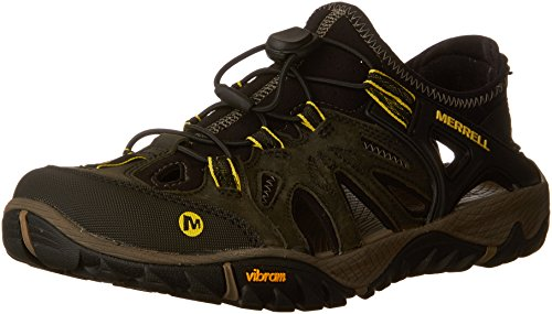 Merrell Men's All Out Blaze Sieve Hiking Shoe, Olive Night, 8 M US