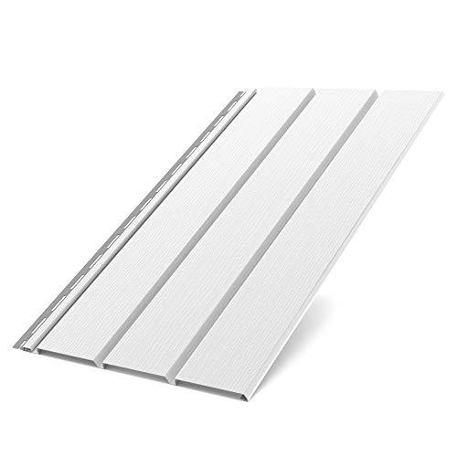 Bryza Kunststoffpaneele Weiss RAL 9010 | Verkleidung | Aussen & Innen | Unterdach | (Standartpaneele 200x30,5x1,5cm)