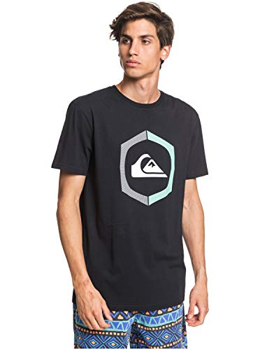 Quiksilver Uomo Maglietta Sure Thing (Black), Größe:XL