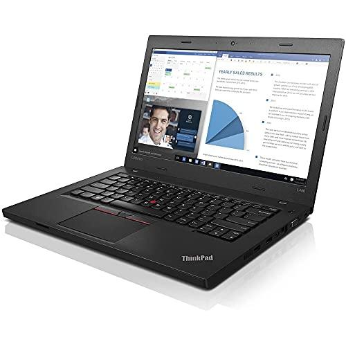 Lenovo Thinkpad L460, i5-6200U, RAM 8GB, 256GB SSD, pantalla 14', 3*USB3, Card Reader, WiFi, Webcam. Windows 10 Pro (Reacondicionado Certificado)