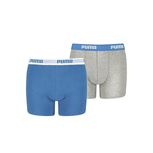 PUMA Jungen Boxershorts mit hohem Baumwollanteil gewohnt Gute Marken Qualität. 4er Pack (158-164 - 4er Pack, Blue/Grey)