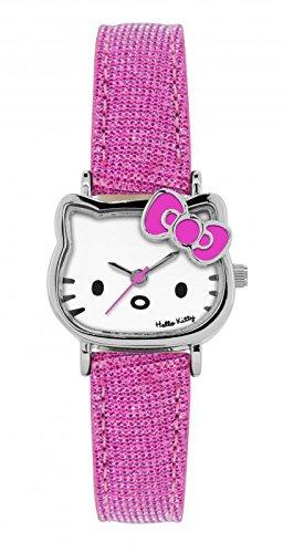 Officielle Licencing Hello Kitty Forme Ronde Rose et Blanc de qualité Montre par Sanrio