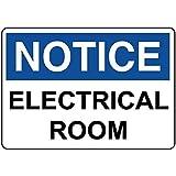 Judascepeda Panneau d'avertissement Avis Panneau de signalisation de salle électrique Panneau d'affaires Panneau d'étain en métal en aluminium de 8 x 12 pouces